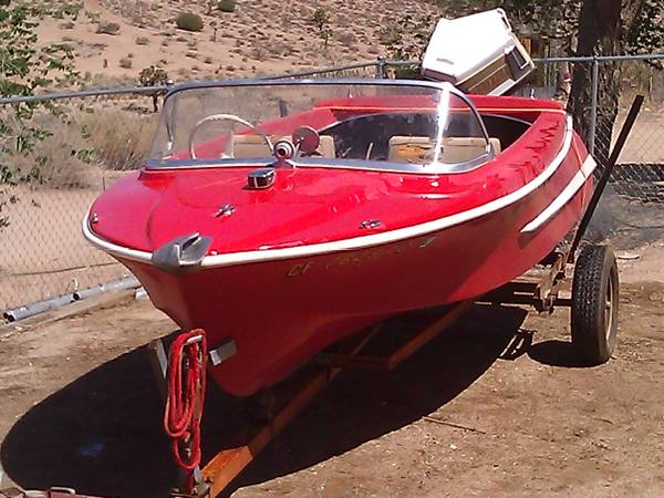 1960 DORSETT 14 RUNABOUT EVINRUDE 50 HP OUTBOARD - $800 (Victorville)