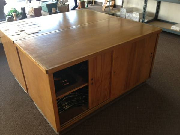 Oak shelving table units used in retail - $75 (Bakersfield)