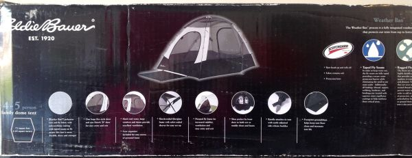 Eddie Bauer Family Dome Tent (4-5 persons) Brand New in Box - $80 (BakersfieldNorthwest)