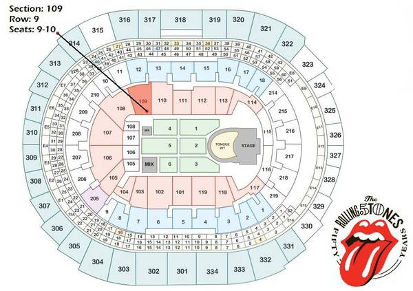 ROLLING STONES TICKETS (5) - $660 (STAPLES CENTER May 20th)
