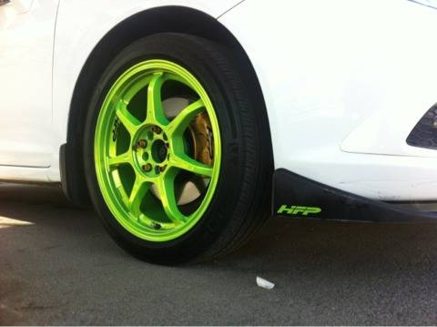 Selltrade enkei RS7 powder coated electric pearl green 17x7 .5 - $1 (Southeast panama lane)