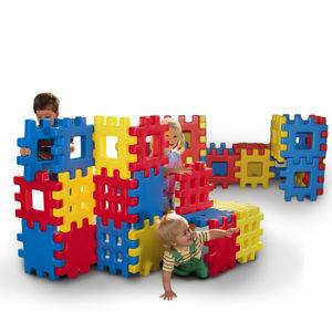 GIANT WAFFLE BLOCKS 2 SETS LIKE NEW EACH PIECE IS 14 INCHS LARGE - $130 (SW BAKERSFIELD)