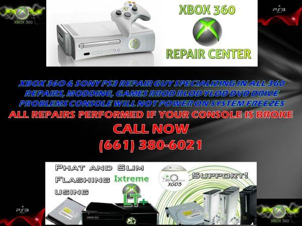 XBOX 360 REPAIR RED RING REPAIRS SONY PS3 YLOD RLOD REPAIRS - $30 (BAKERSFIELD,CA)