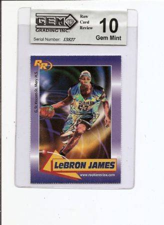 LeBRON JAMES ROOKIE REVIEW ROOKIE CARD GGI 10 - $10 (BAKERSFIELD)
