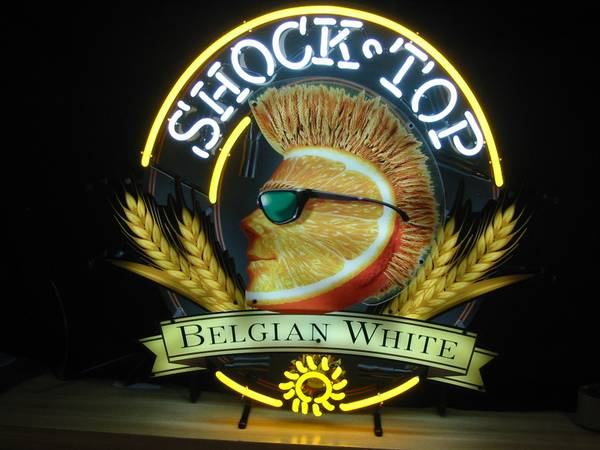 neon beer sign shocktop shock top belgian white - $175 (Oxnard CA 93035)