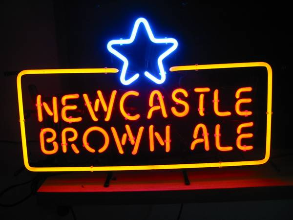 neon beer signs NEWCASTLE new castle brown ale ail - $175 (Oxnard Calif 93035 )