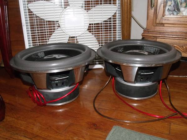 AUDIOQUE 12 INCH SUBWOOFERS (PAIR) - $300 (DELANO)