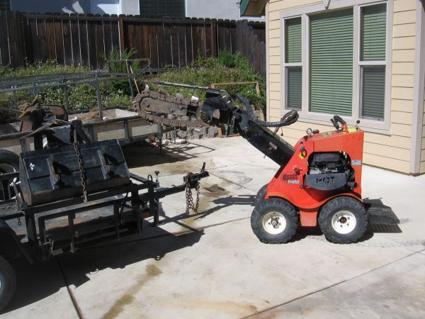 Mini loader,Trencher Post auger - $7500 (Paso Robles)
