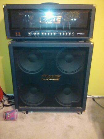 Crate Blue Voodoo 120h 4x12 Cab Killer Guitar Barely used - $750 (NE Bakersfield)