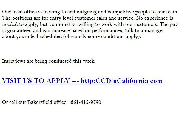 Customer help wanted. Begin-asap. (Wasco, Lamont, Shafter)