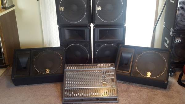 YAMAHA P.A. SYSTEM. POWERED BOARD. 6 SPEAKERS - $1600 (BOISE)
