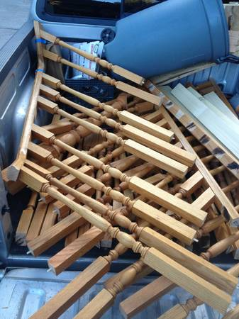 Oak railing parts (flagstaff)