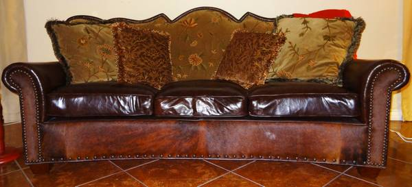 RARE EXOTIC LEATHER SOFA CHAIR - $1 (AVONDALE)