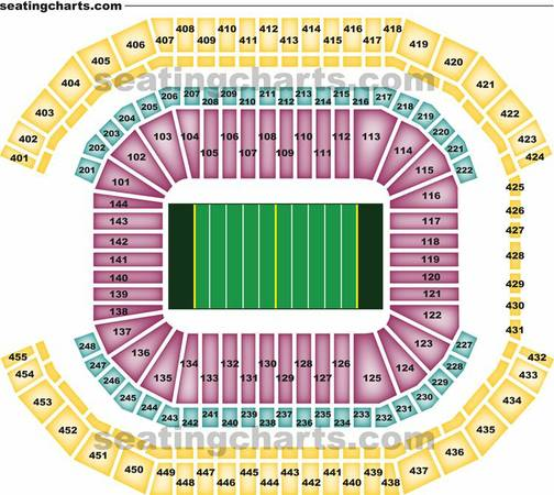 2 COWBOYS CARDINALS LOWER LEVEL TICKETS ... ROW 14 ... SAT 817 - $100 (SECTION 116)