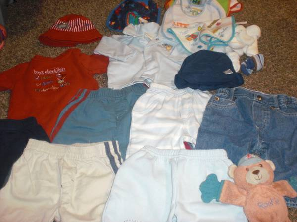 Baby Boy Clothes size 0-3 months plus extra nice, brand new stuff - $15 (cottonwood)