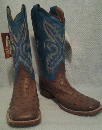 Resistol Ranch Ostrich Cowboy Boots -Womens size 9 -BRAND NEW - $250 (Flagstaff, Arizona)