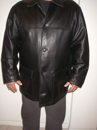 Price Reduced MENs FIELD GEAR LEATHER COAT - $100 (COTTONWOOD)