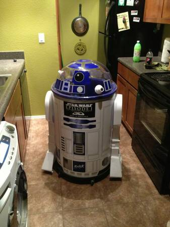 Life Size r2d2 ice barrel cooler - $250 (Flagstaff )