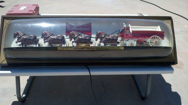 Vintage Budweiser Clydesdale sign - $1000 (Winslow)