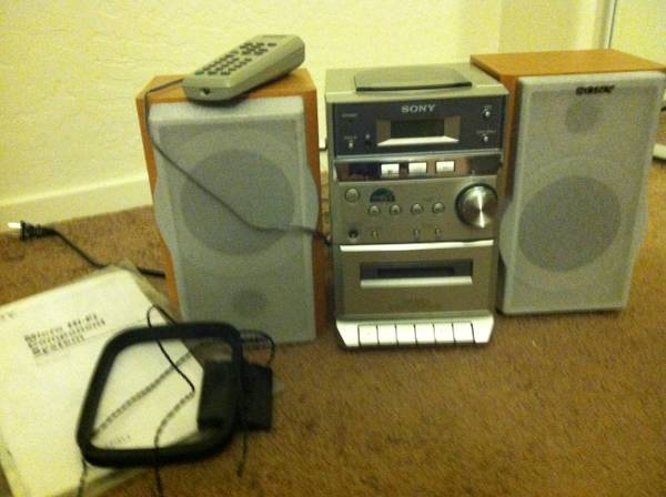 sony stereo and Transcriber (flagstaff-near nau dome)