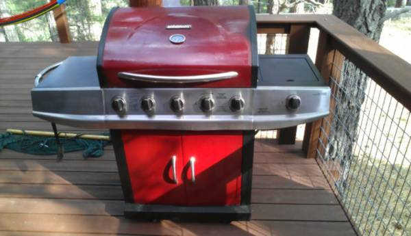 6 Burner Brinkmann BBQ Grill 2 Propane Tanks Gas Gauge - $200 (Kachina Village )