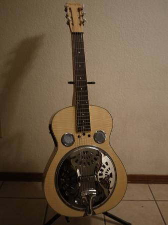 Galveston square neck electric resonator dobro w case - $299 (Flagstaff)