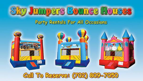 SKY JUMPERS BOUNCE HOUSES - Best ServicePricingSelection In Town (Serving Entire Valley-Park Approved, Licensed Insured)