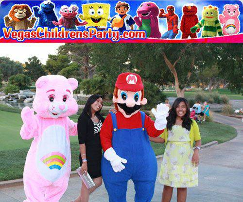 Character Mascots For Your Childs Birthday Party (Las Vegas)