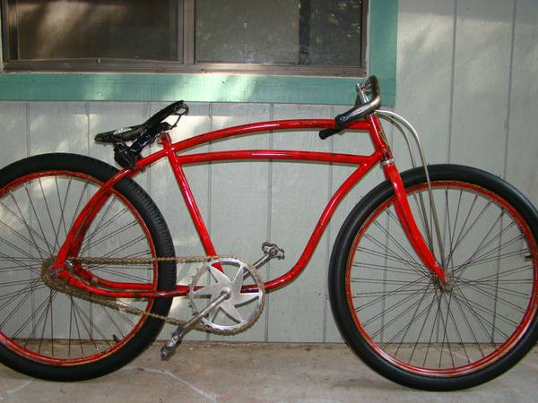 1941 hawthorne 1936 Shelby cadillac, vintage bicycle