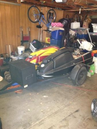 2 trick skis 440 with built 550 engine and and trailer trades - $1 (sonora)