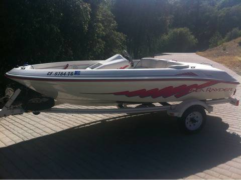 Sea Ray, Sea Rayder jet boat, NEW ENGINE - $2900 (Sutter Creek)