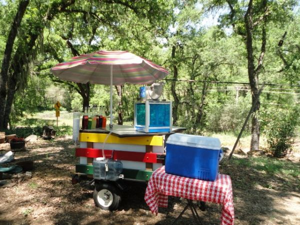 Shaved Ice Snow Cone Concession Trailer with Umbrella - $1000 (Gold Country)