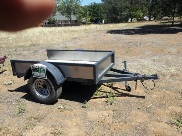 TRAILERS 12 6 FLATBED UTILITY - $500 (PLACERVILLE)