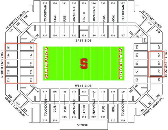 Stanford Football Tickets for 2013 Season - Oregon Notre Dame etc. - $20 (16 tickets choose any quantity any game)