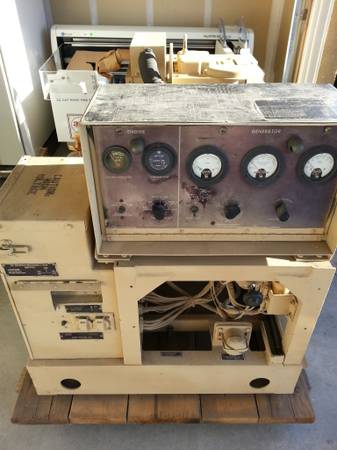 Military MEP-002A 7KW Generator Genset wservice logs, xtrs 13 phase - $2000 (Tracy)