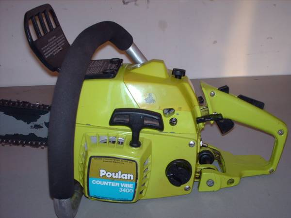 Vintage Poulan 3400 counter vibe 56cc chainsaw - $130 (loomis)
