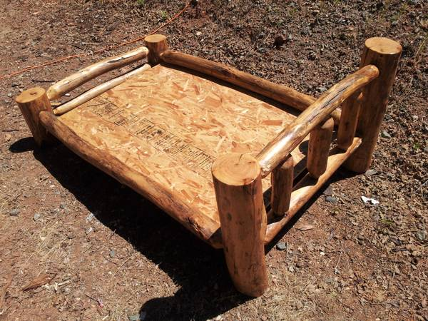one of a kind handmade log toddler bed frame - $175 (OBO alta sierra)
