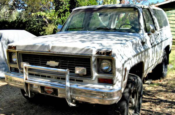 1974 Chevy K5 Blazer 4X4 needs 350 auto trans Has typical rust - $600 (Penn Valley)