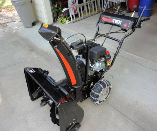 Almost NEW Sno-Tek Snowblower - used once - $475 (Murphys)