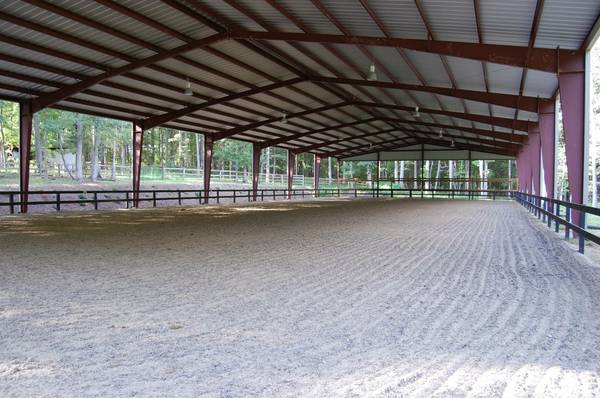 Covered Horse Shelters : Covered arena for sale