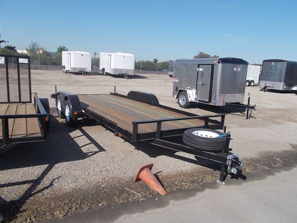 new 7x18 utility trailer with spare tire (Fresno)