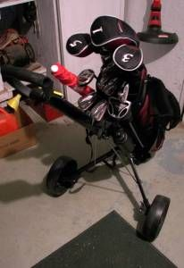 Wilson Deep Red Golf Club Set Plus Cart (Lemoore CA)