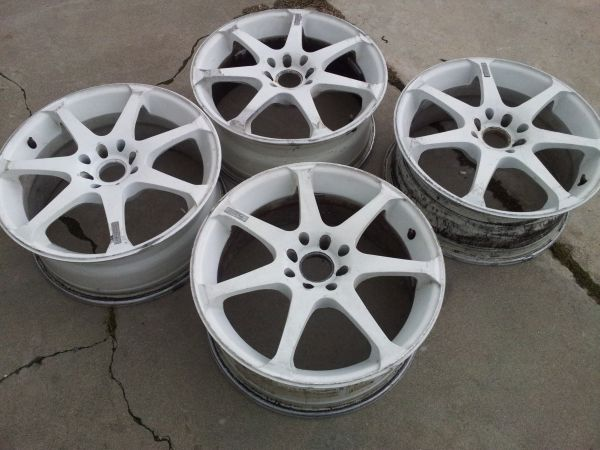 17 Motegi R7 4 Lug Type R White - $175 (Hanford)