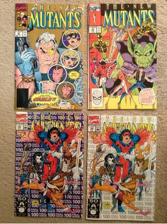 -gtgt New Mutants 87 (2nd print), 92 and 100 1st and 3rd print)ltlt- - $10 (Indio)