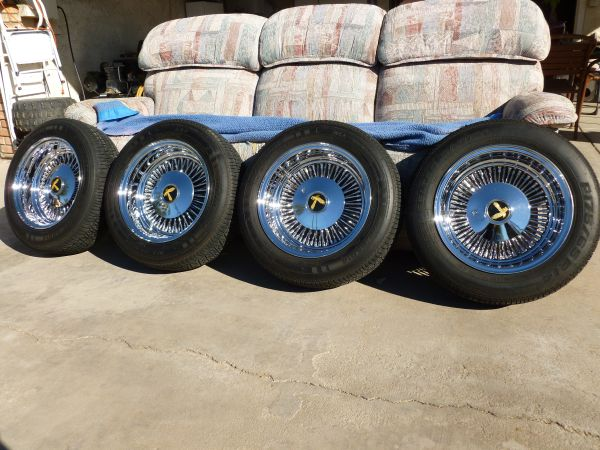14 USA Lowrider Wire Wheels - $450 (Imperial, CA)