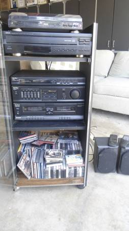 Record Player Stereo Amp, CD, casette - $60 (Fontana)