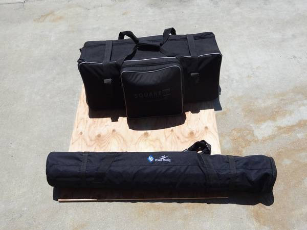Portrait Lighting Kit By Square Perfect With 3 Backdrops (BEST OFFER) - $400 (SFV - Sylmar Area)