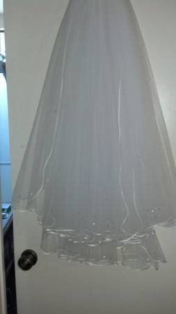 3 tier bridal veil and wedding dress - $65 (San Diego)