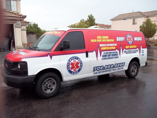 body medic mobile auto bumper repair to your home or office (las vegas,hend,pahrump)