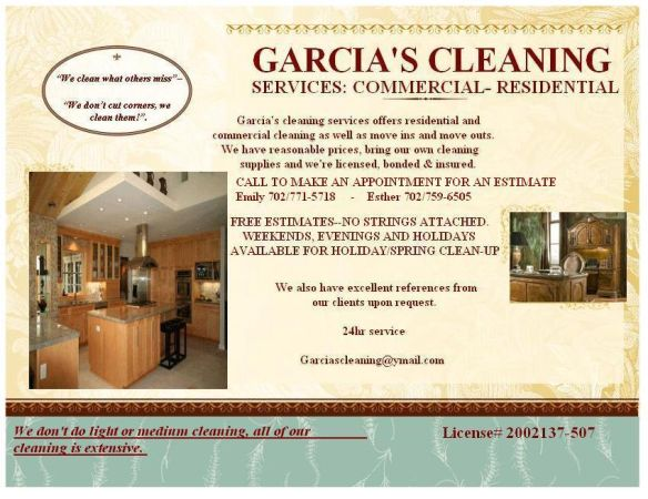 EFFICIENT AND DETAIL ORIENTED HOUSEKEEPERS (ALL OF VEGAS)